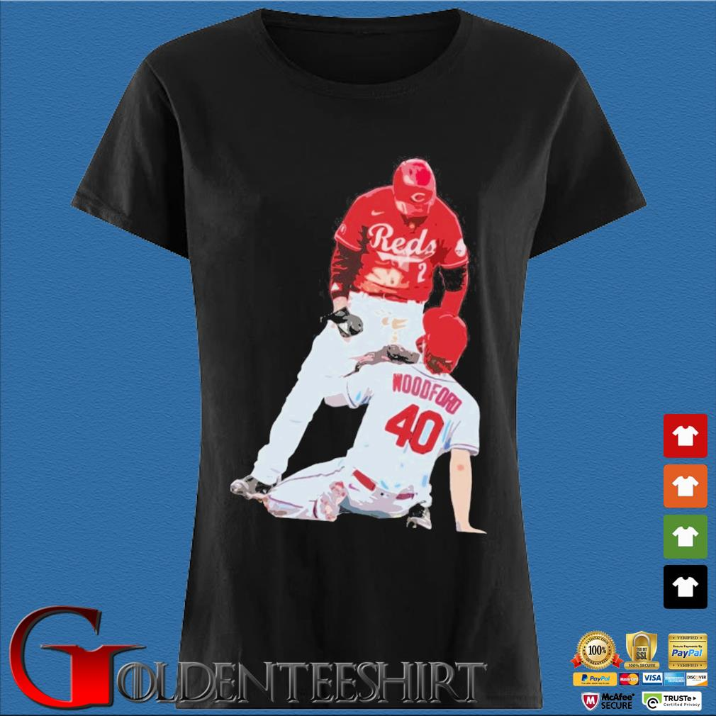 Cincinnati Reds Nick Castellanos Vs Cardinals Jake Woodford Shirt Den Ladies
