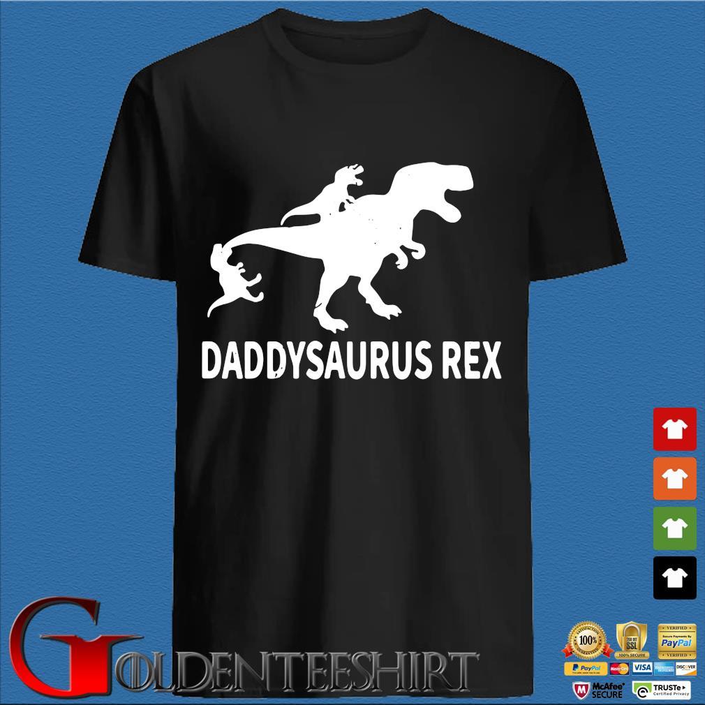 Daddysaurus Rex 2 Kids Fathers Day Shirt