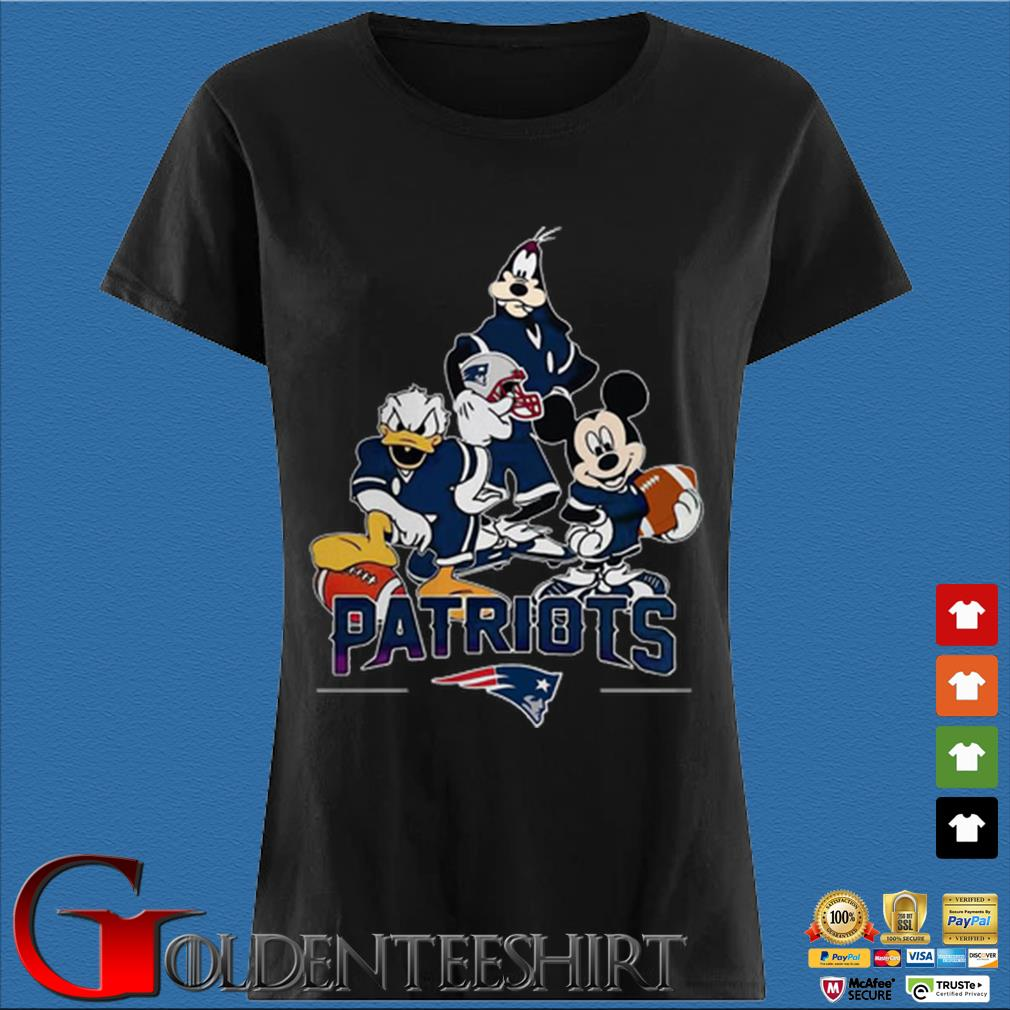 Disney characters mashup new england Patriots Den Ladies