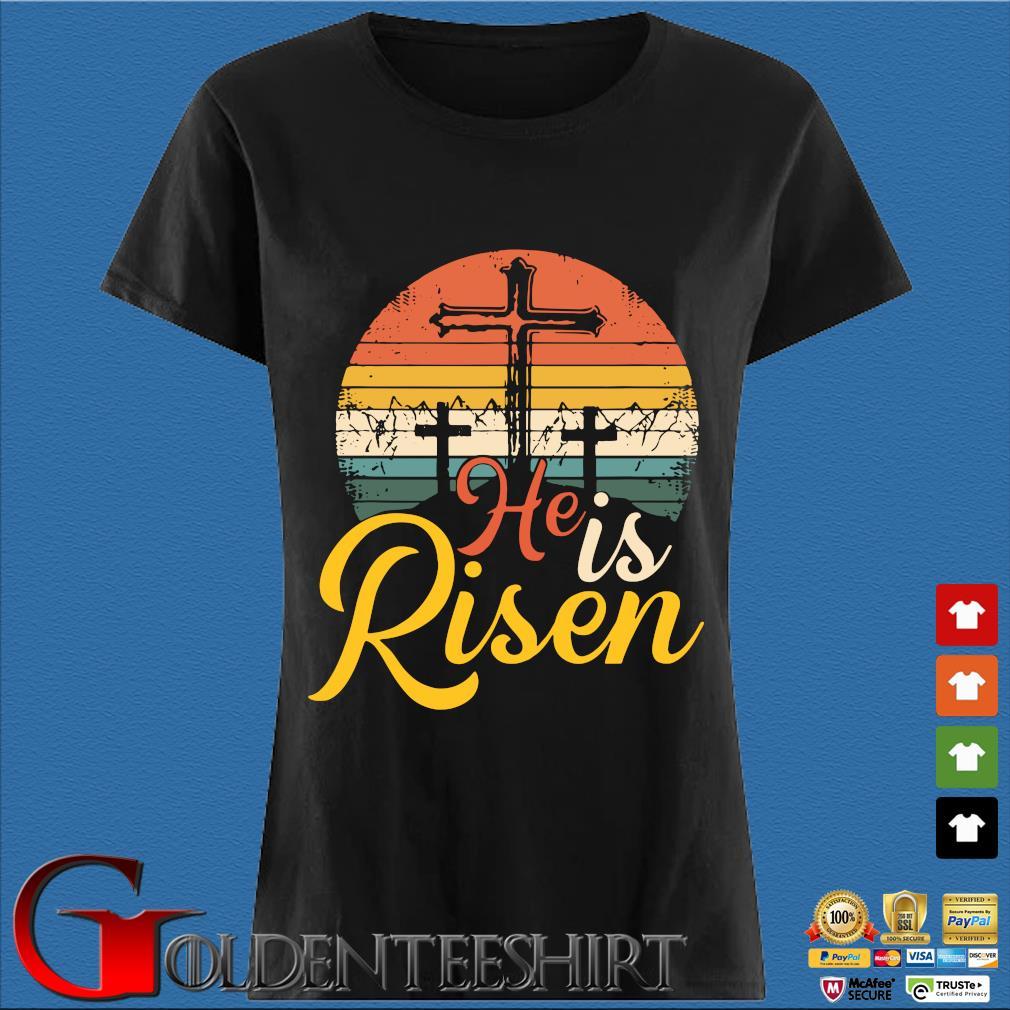 He is risen vintage sunset Den Ladies