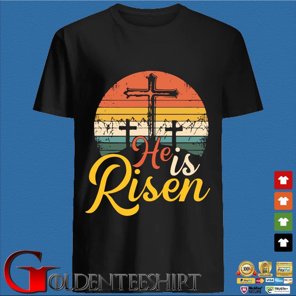 He is risen vintage sunset shirt