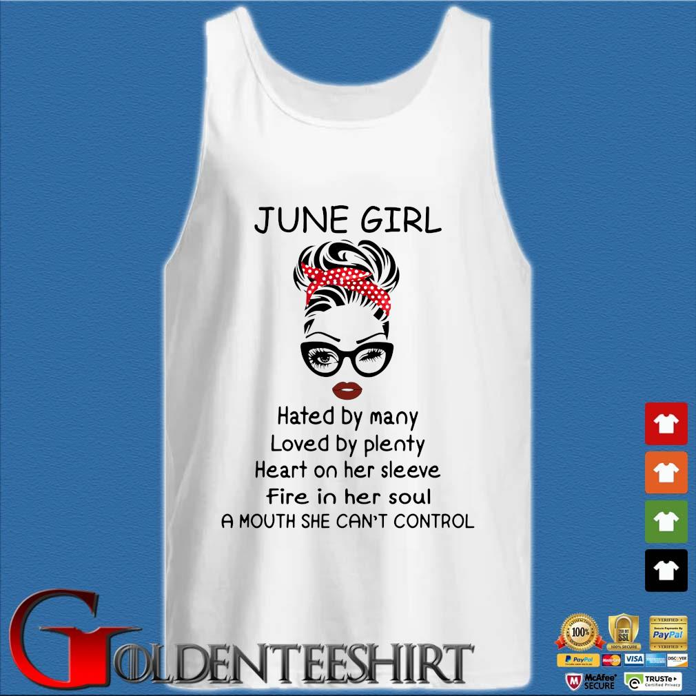 June girl hated by many loved by plenty heart on her sleeve Tank top trắng