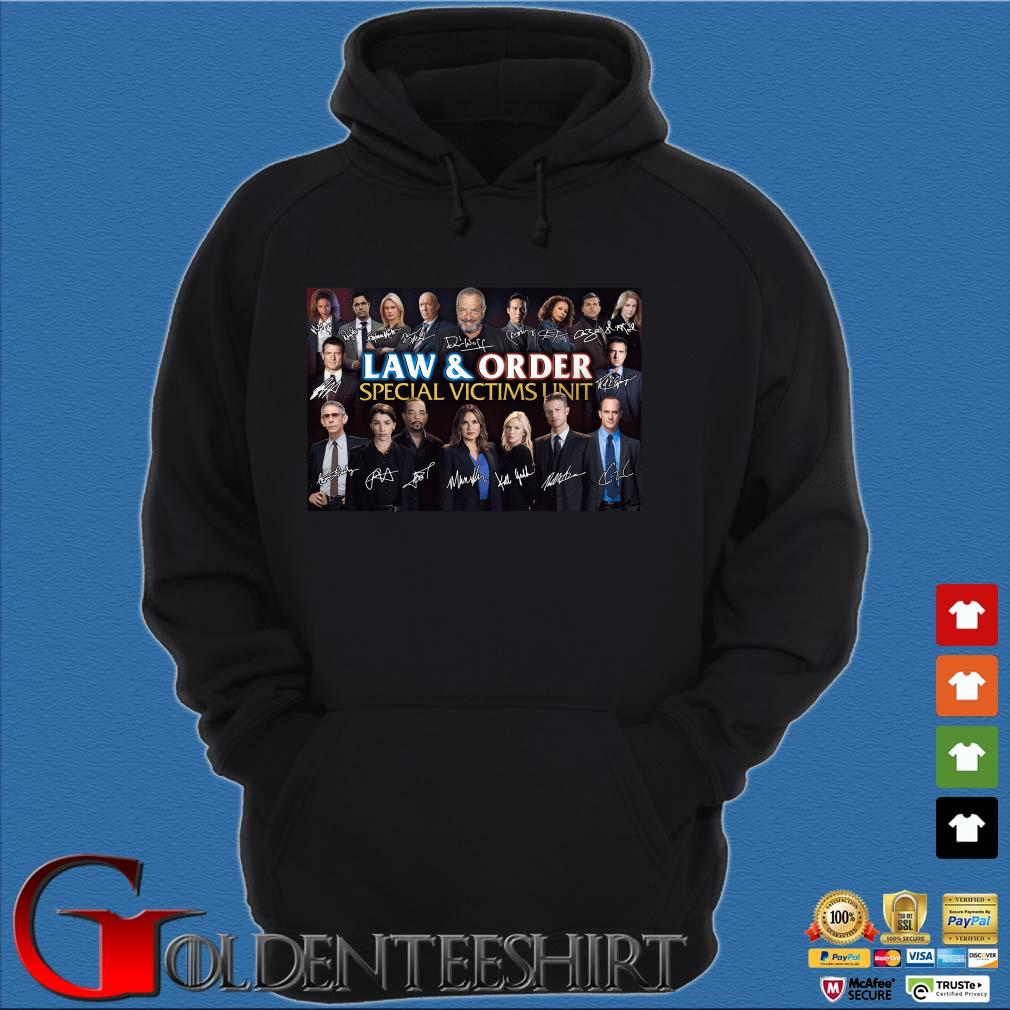 Law And Order Special Victims Unit Signatures Shirt Hoodie đen