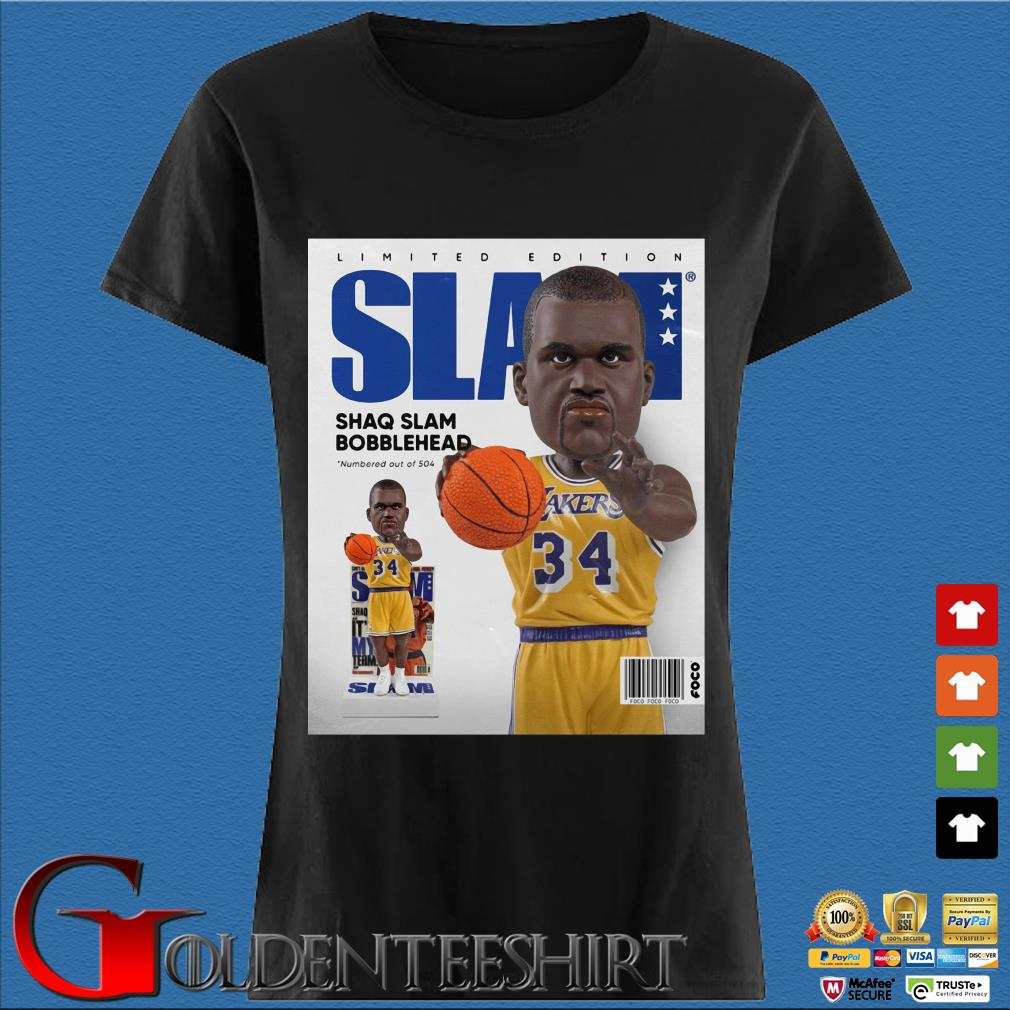 Limited Edition Slam Shaq Slam Bobblehead Shirt Den Ladies