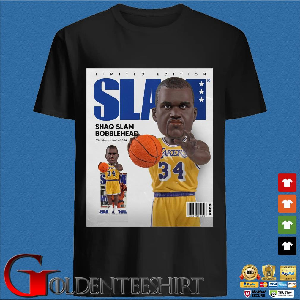 Limited Edition Slam Shaq Slam Bobblehead Shirt