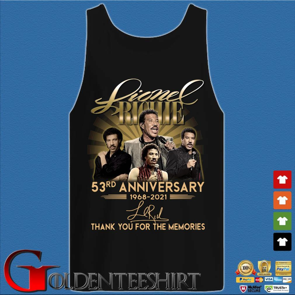 Lionel Richie 53rd Anniversary 1968 2021 Signatures Thank You Shirt Tank top den