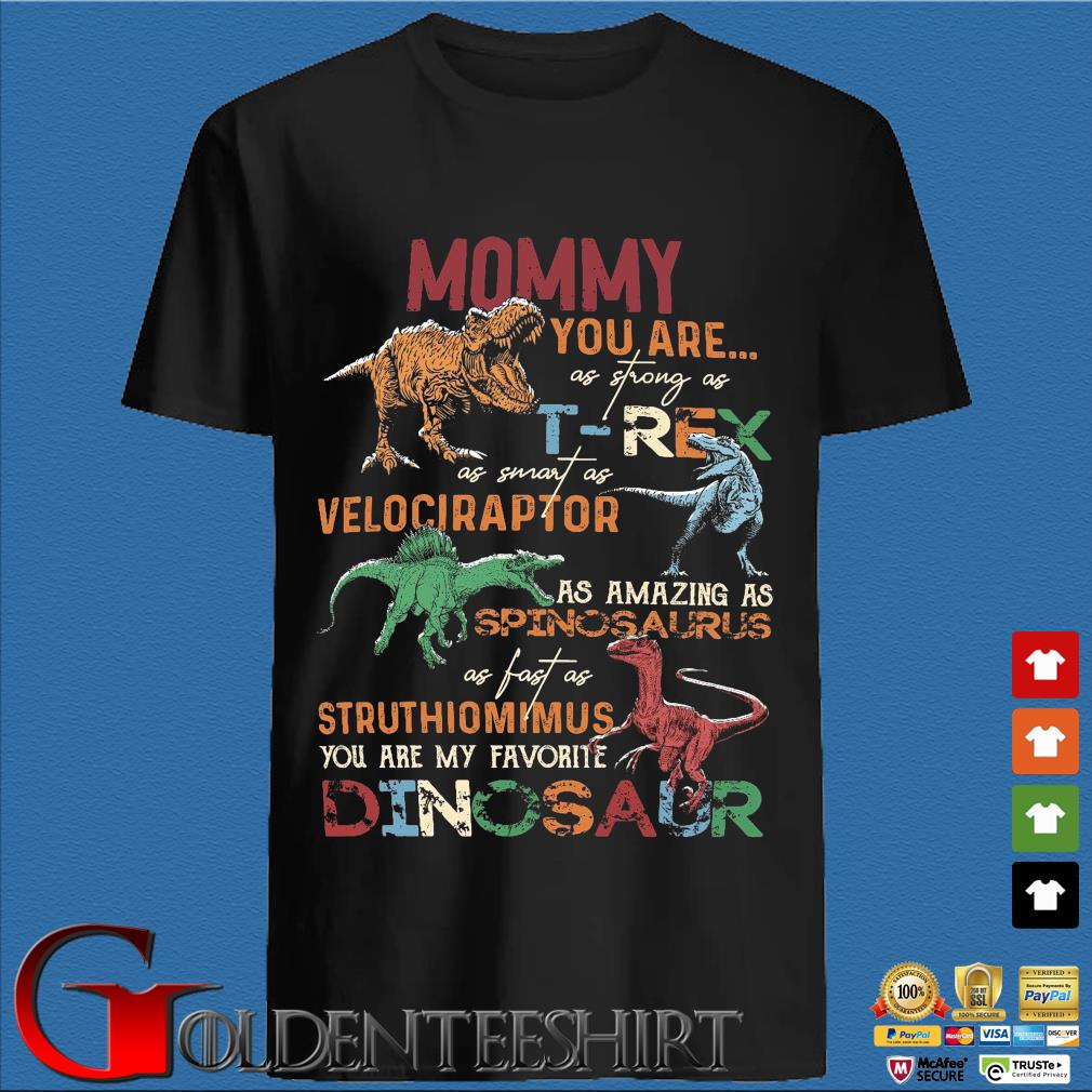 Mommy you are as strong as T-Rex as smart as velociraptor shirt
