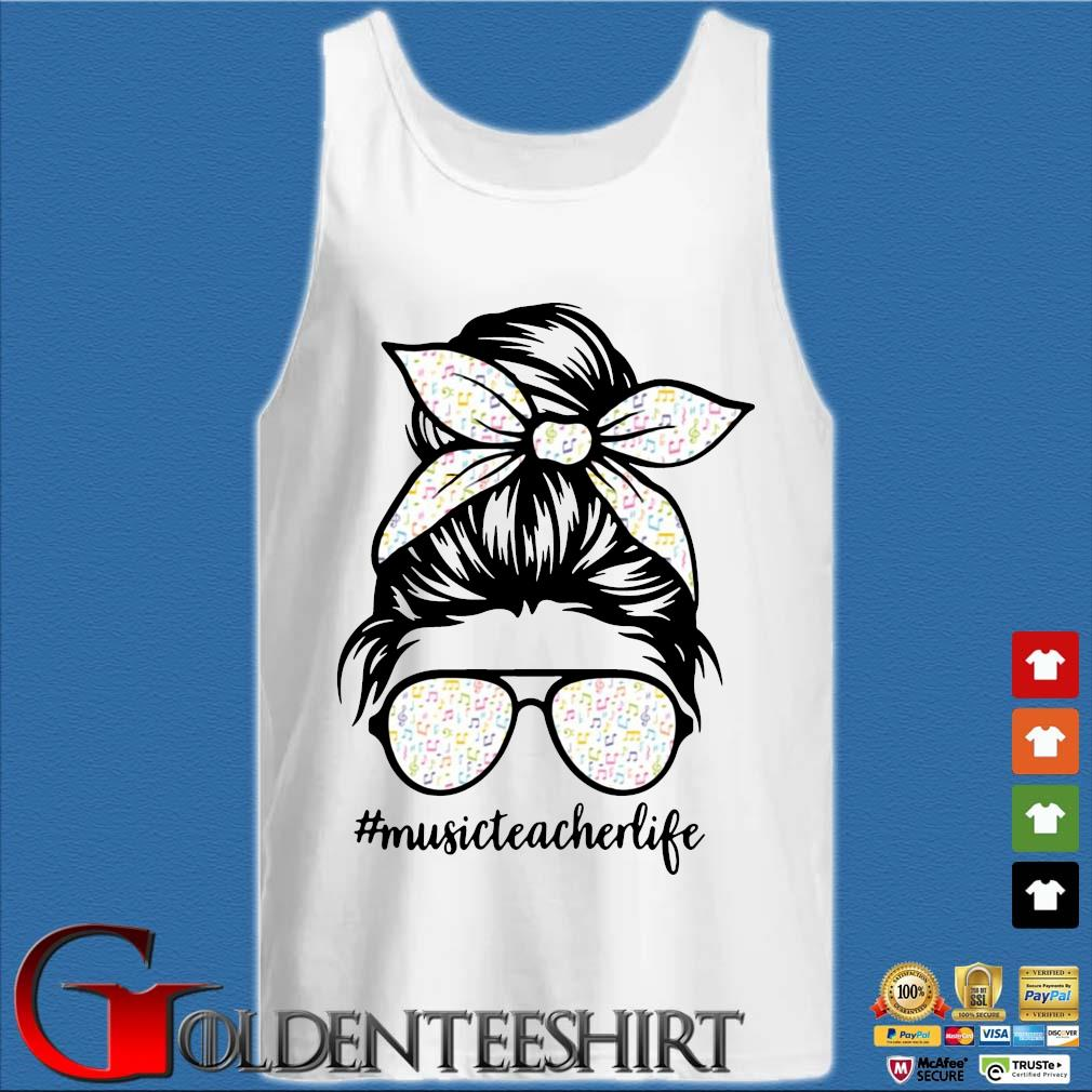 Musical Note Girl Music Teacher Life Shirt Tank top trắng