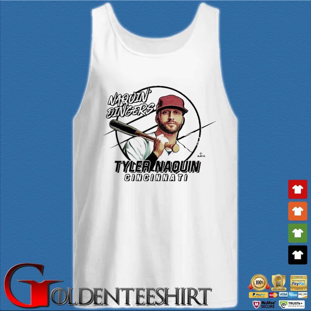 Naquin Dingers Tyler Naquin Shirt Tank top trắng