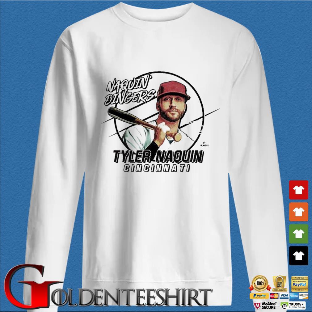 Naquin Dingers Tyler Naquin Shirt trang Sweater