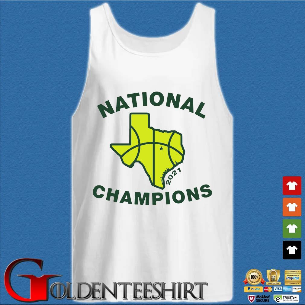 National Champions 2021 Texas Flag Map Basketball Shirt Tank top trắng
