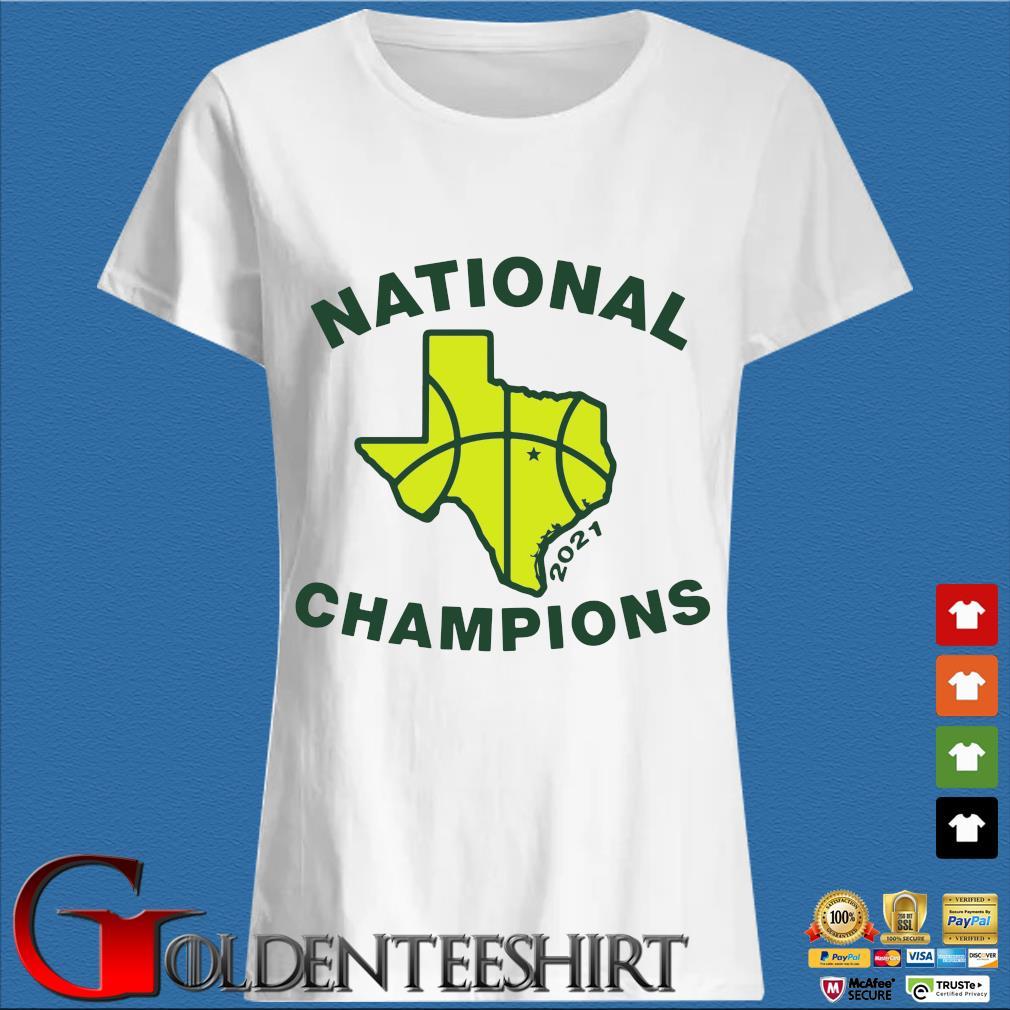 National Champions 2021 Texas Flag Map Basketball Shirt Trang Ladies