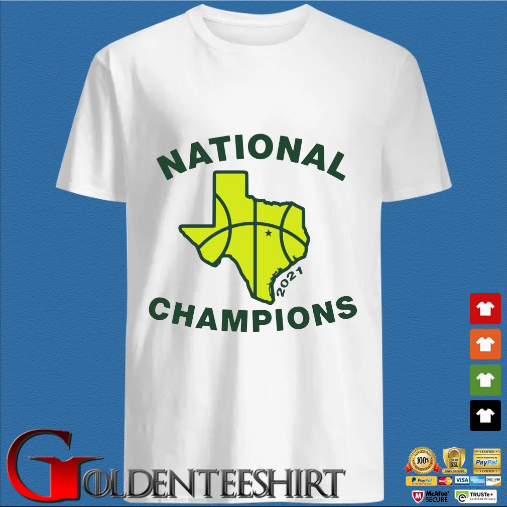 National Champions 2021 Texas Flag Map Basketball Shirt