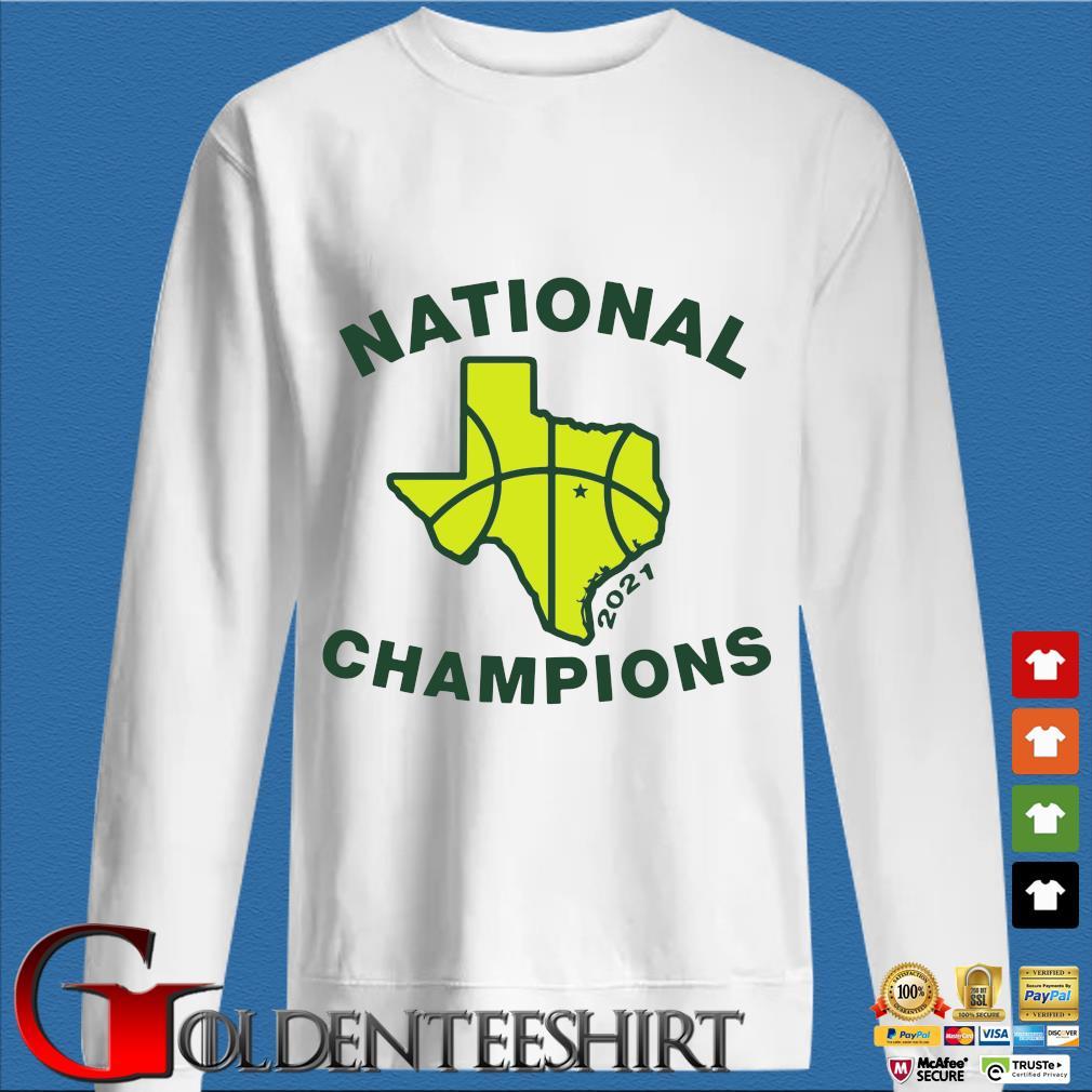 National Champions 2021 Texas Flag Map Basketball Shirt trang Sweater