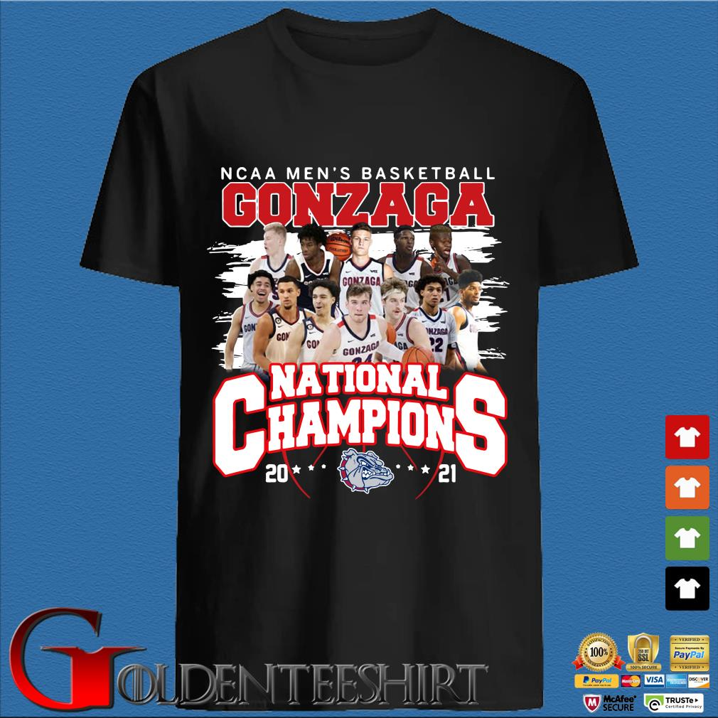 Ncaa men's basketball Gonzaga Bulldogs national champions 2021 shirt