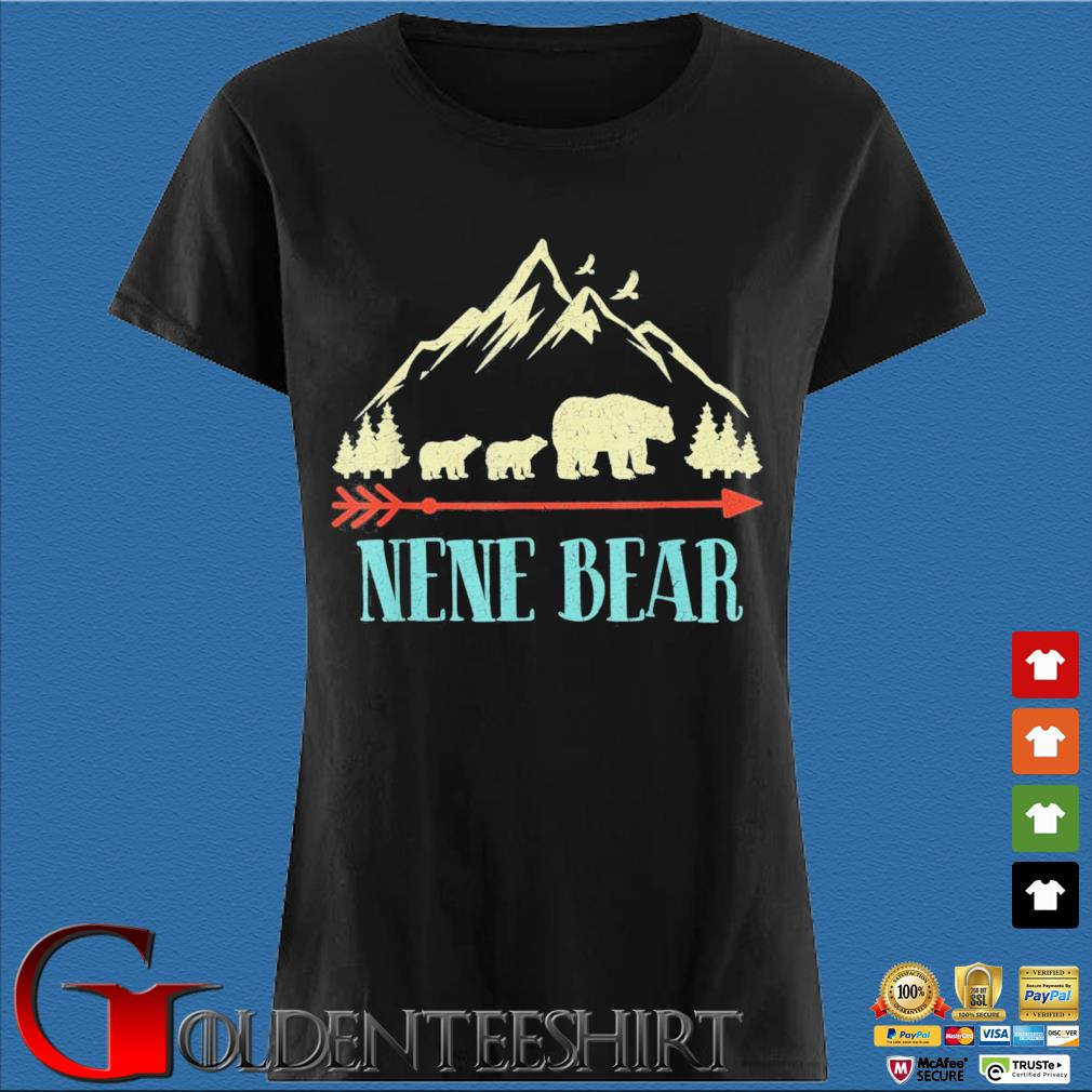 Nene Bear Vintage Father's Day Mother's Day Us 2021 Shirt Den Ladies