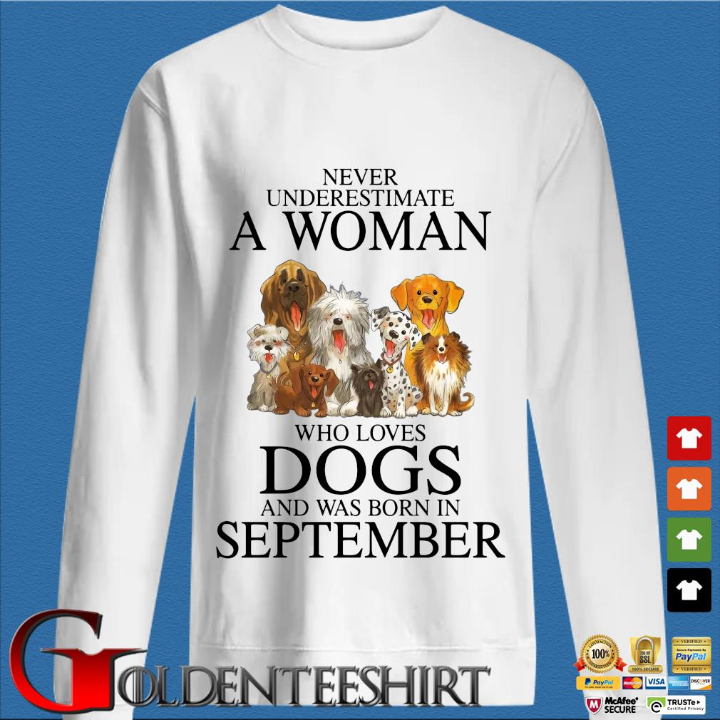Never underestimate an old man who loves dogs and was born in september trang Sweater