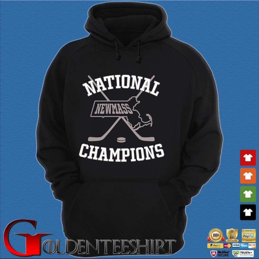 Newmass Champions Shirt Hoodie đen
