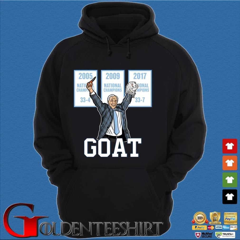 2005-2009-2017 National Championship Goat Shirt Hoodie đen