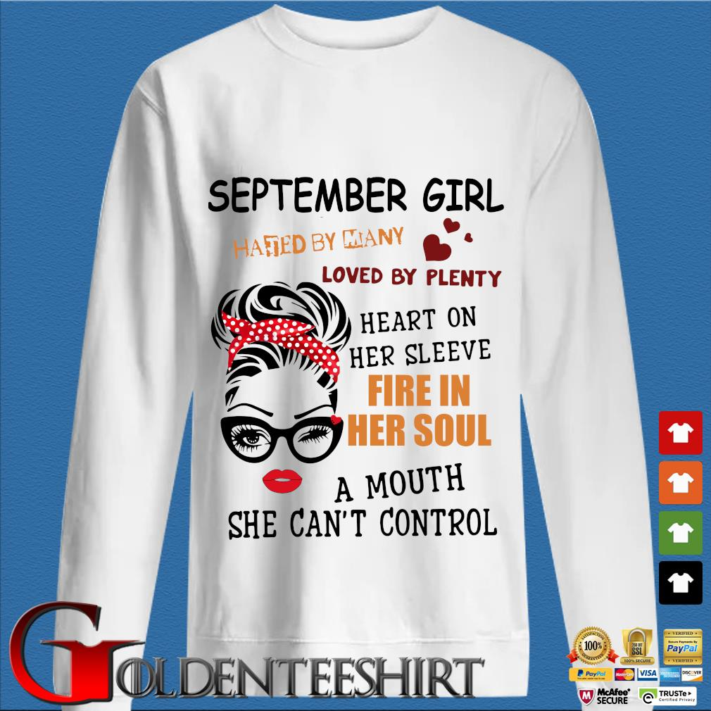 September girl hated by many loved by plenty heart on her sleeve fire in her soul a mou trang Sweater