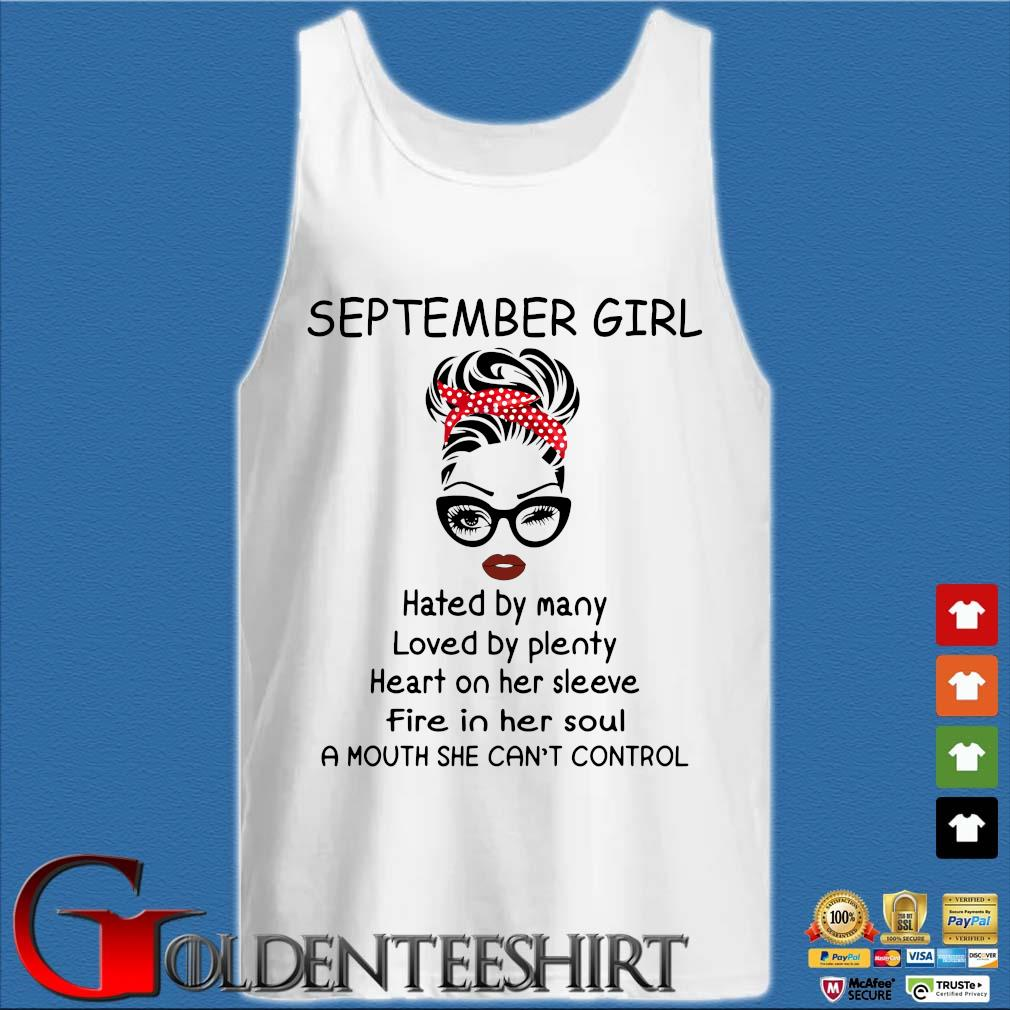 September girl hated by many loved by plenty heart on her sleeve Tank top trắng