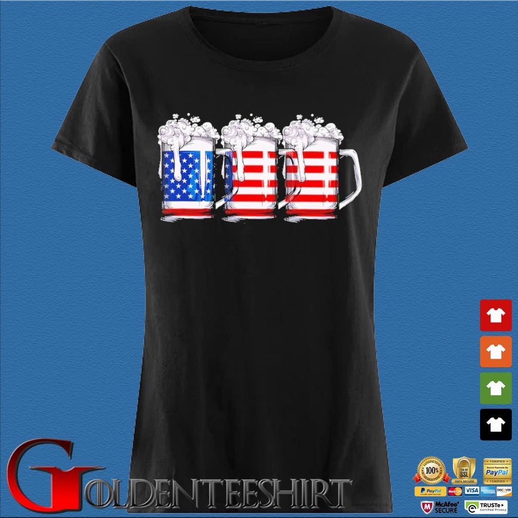Three beer American flag Den Ladies
