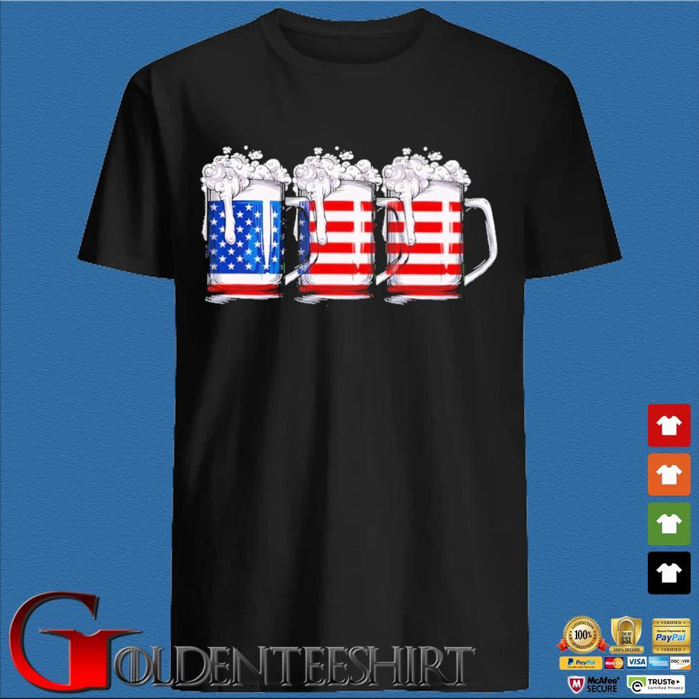 Three beer American flag shirt