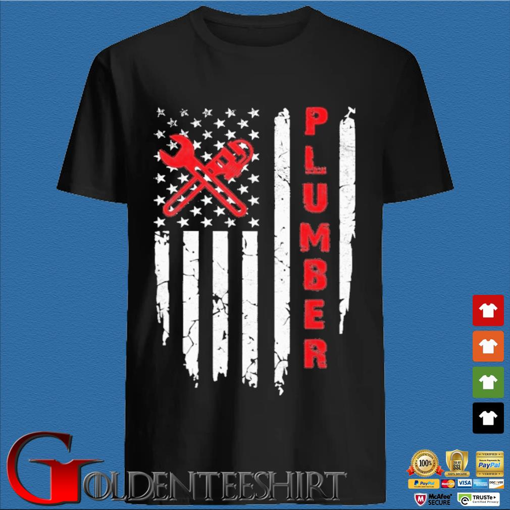 USA American Flag Plumber Shirt