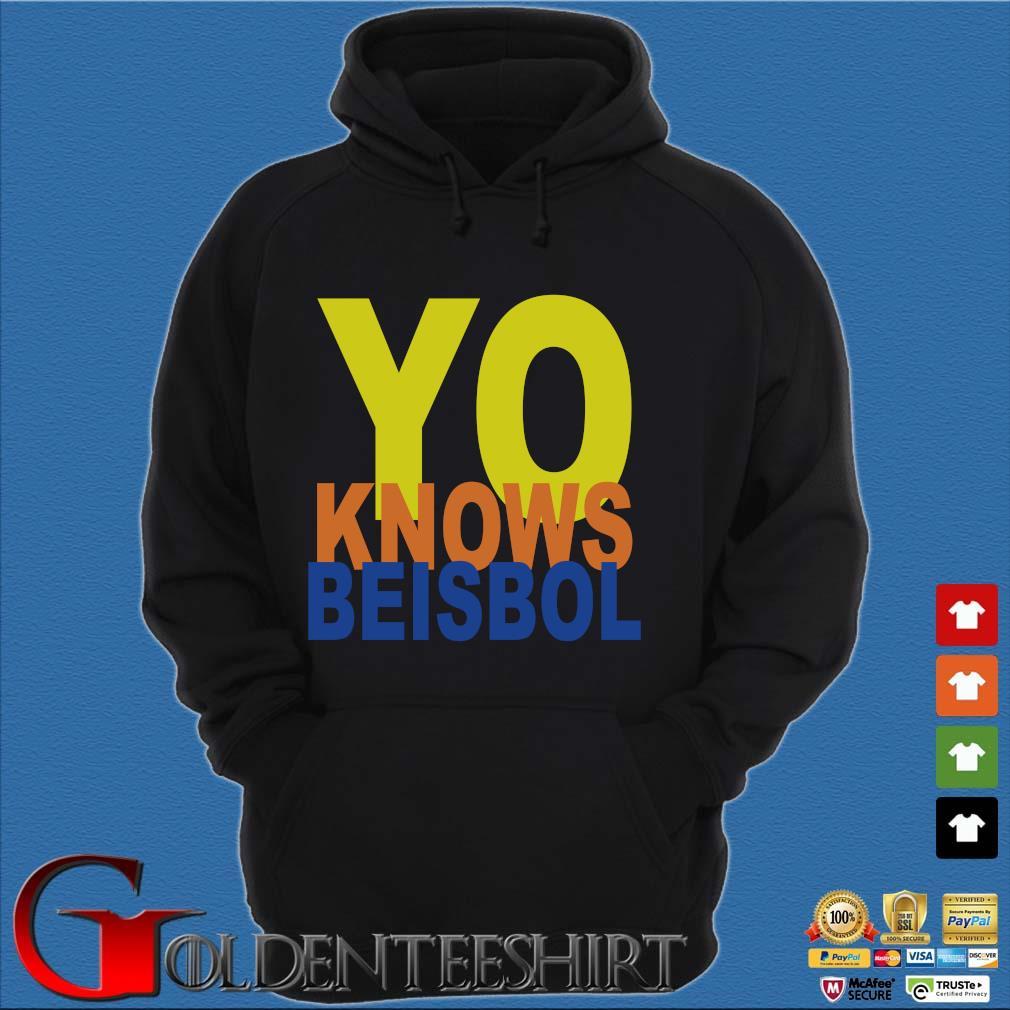 Yo knows beisbol Hoodie đen