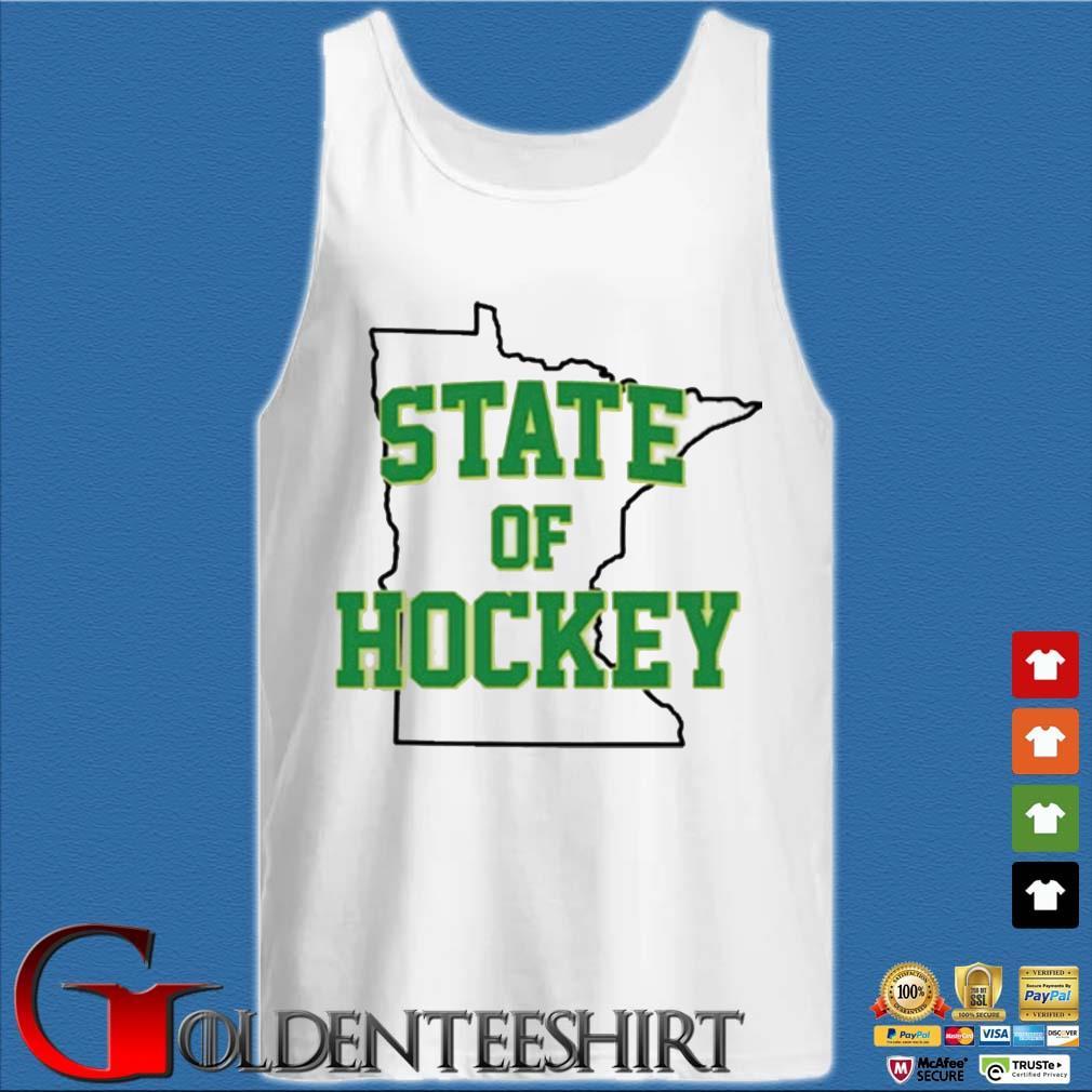 Minnesota State Of Hockey Shirt Tank top trắng