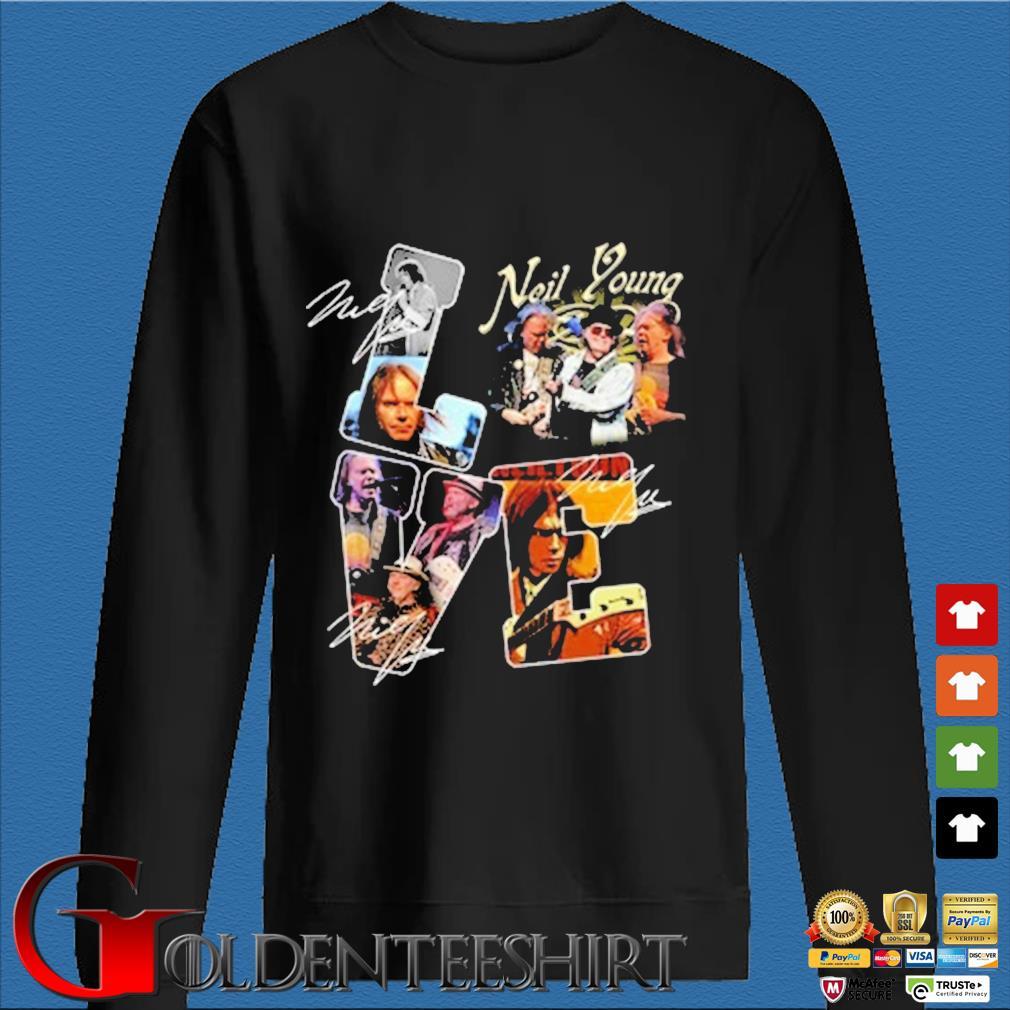 Neil Young Love Signatures Shirt Den Sweater