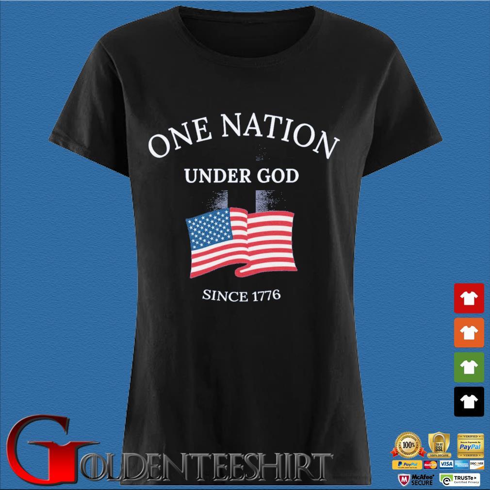 One nation under god since 1776 American flag Den Ladies