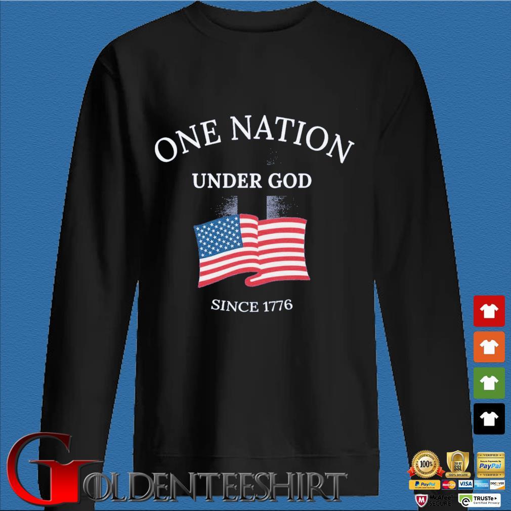 One nation under god since 1776 American flag Den Sweater