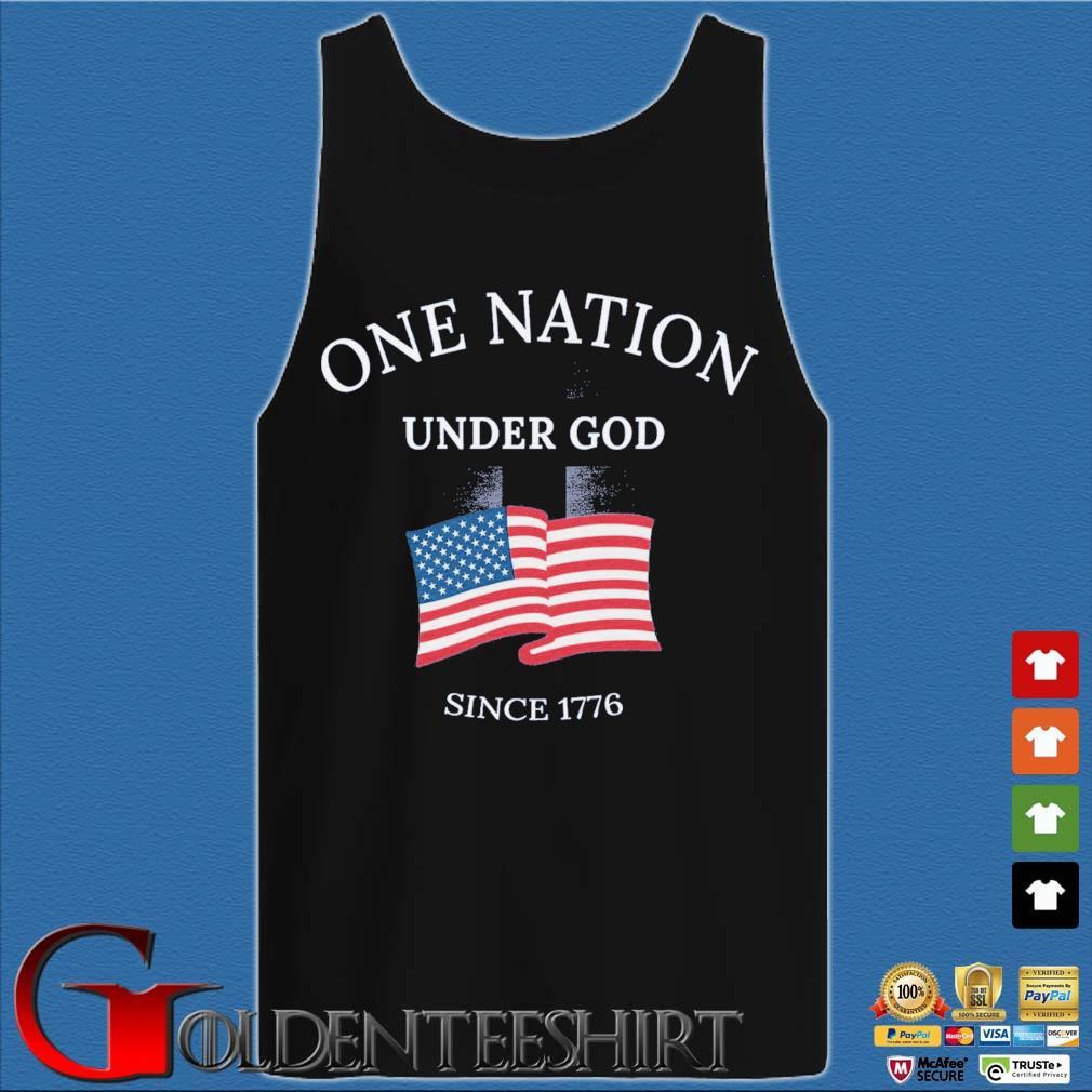 One nation under god since 1776 American flag Tank top den