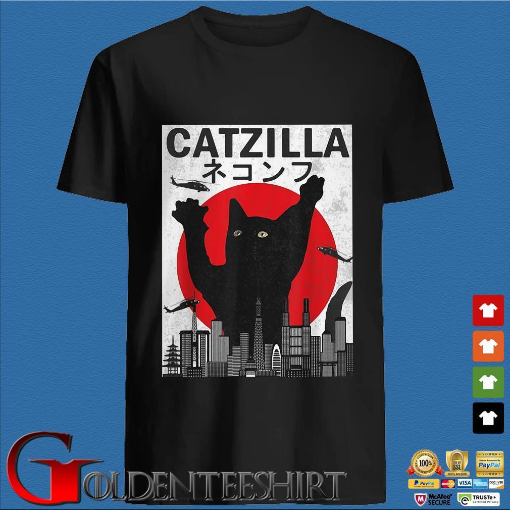 Cat Zilla Cute Kitten Over Tokyo Shirt