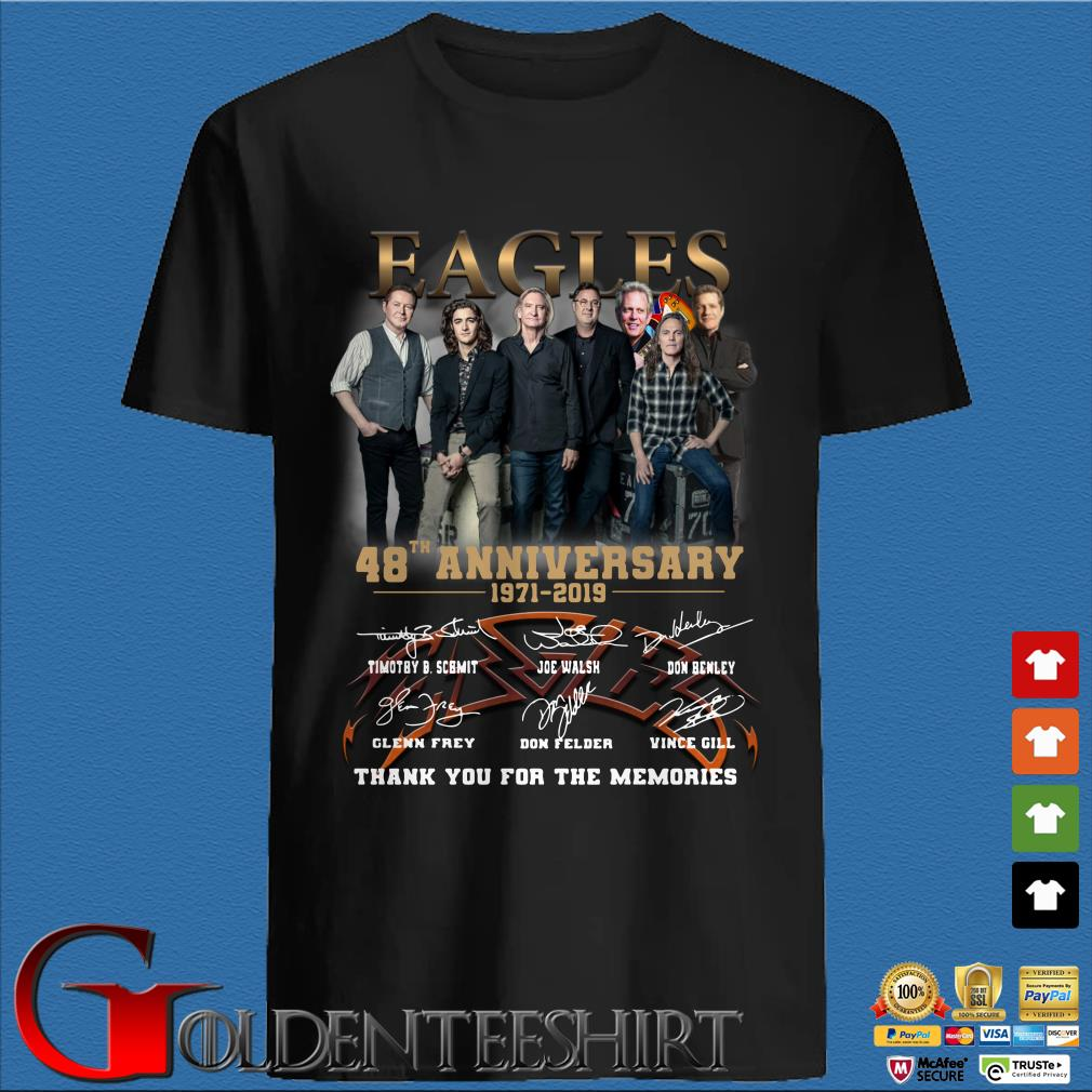 Eagles 48th Anniversary 1971-2019 signature thank you for the memories shirt