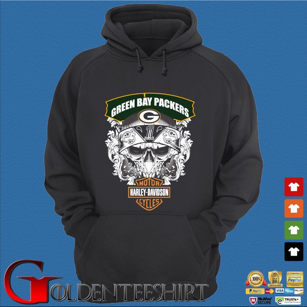 Green Bay Packers Motor Harley Davidson Cycles Shirt
