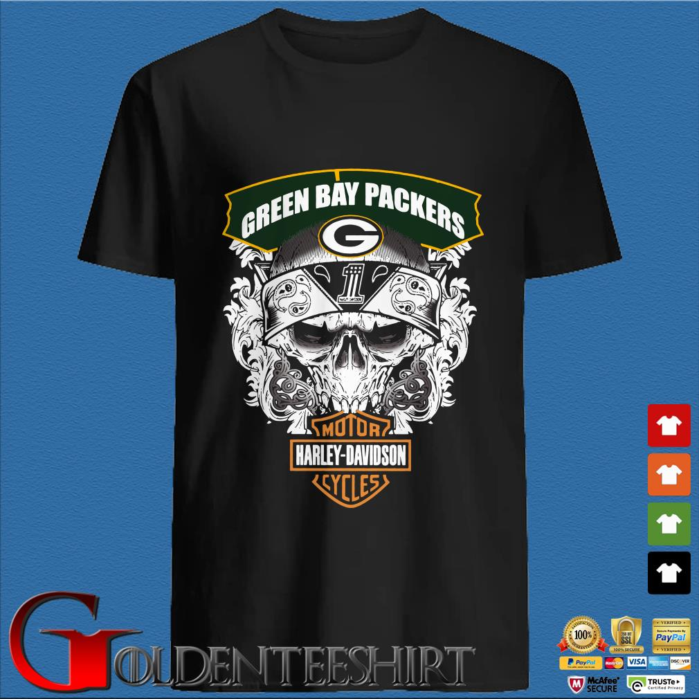Green Bay Packers Motor Harley Davidson Cycles Shirt