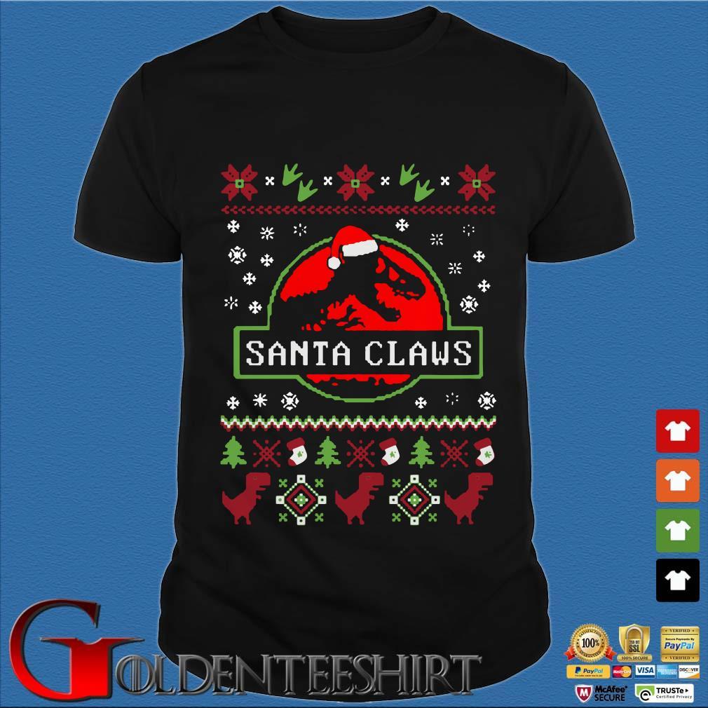 Dinosaurs Santa Claus Christmas Shirt