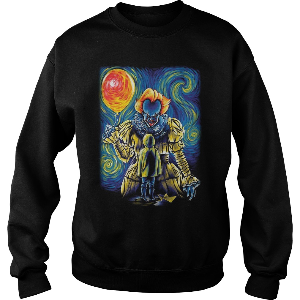Pennywise And Georgie Van Gogh Style Sweater