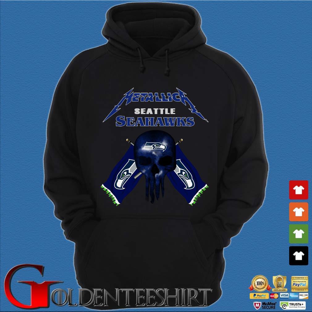 buy popular 50f7c ecb73 Punisher Skull Metallica Seattle Seahawks Shirt, ladies