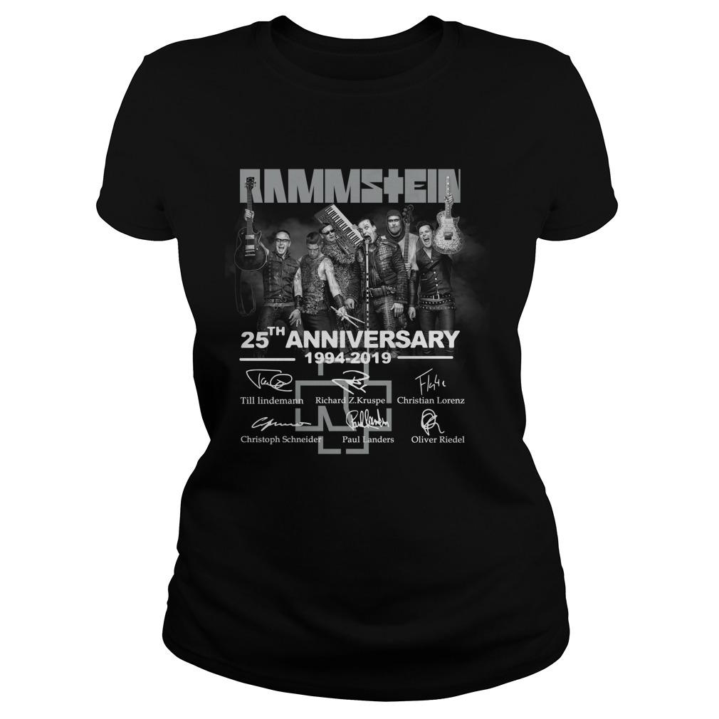Rammstein 25th anniversary 1994-2019 signatures shirt