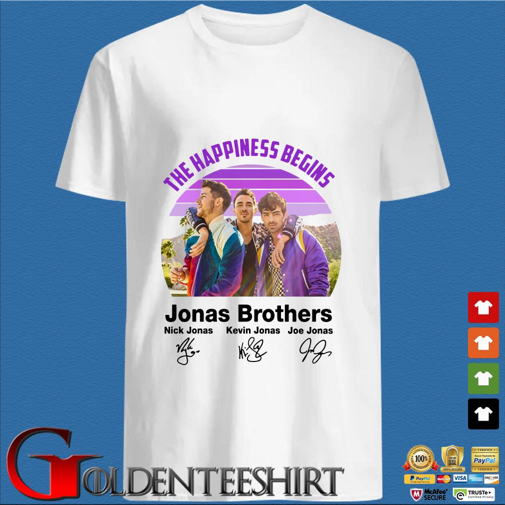 The Happiness Begins Jonas Brothers Signature Shirt