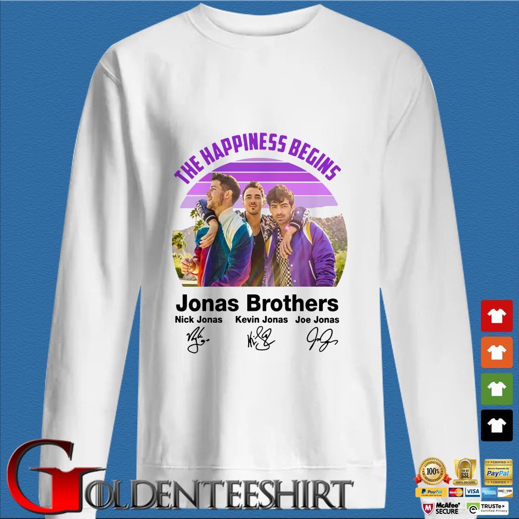 The Happiness Begins Jonas Brothers Signature Shirt