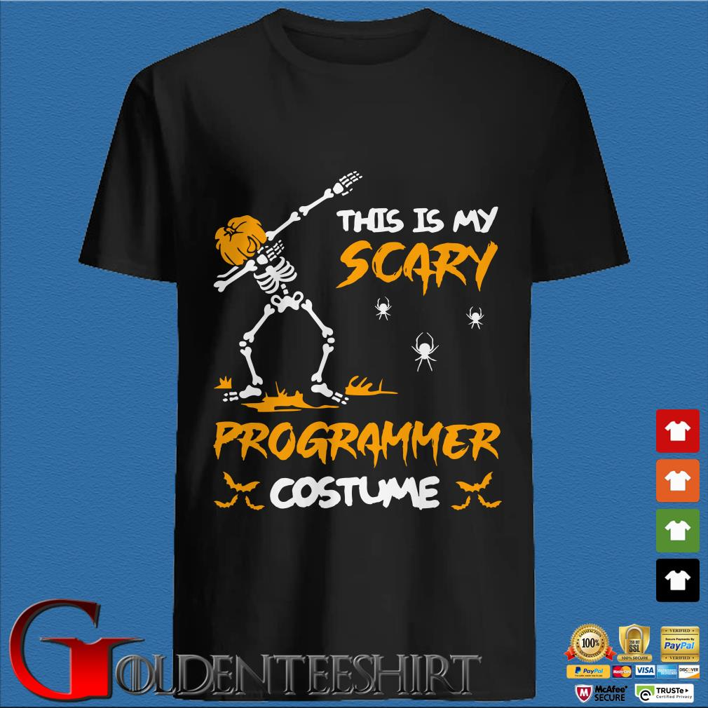 This Is My Scary Programmer Costume Dabbing Skeleton Pumpkin Halloween Hoodie