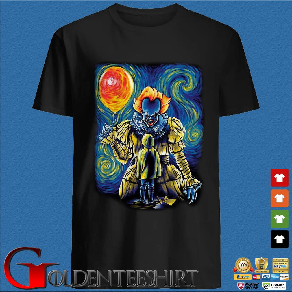 Pennywise And Georgie Van Gogh Style Shirt