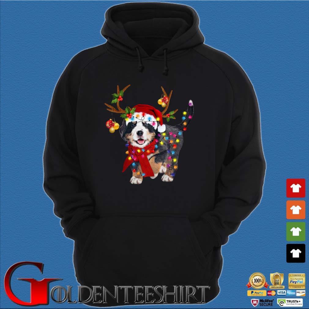 Bernese Mountain Dog Reindeer Light Christmas Sweater