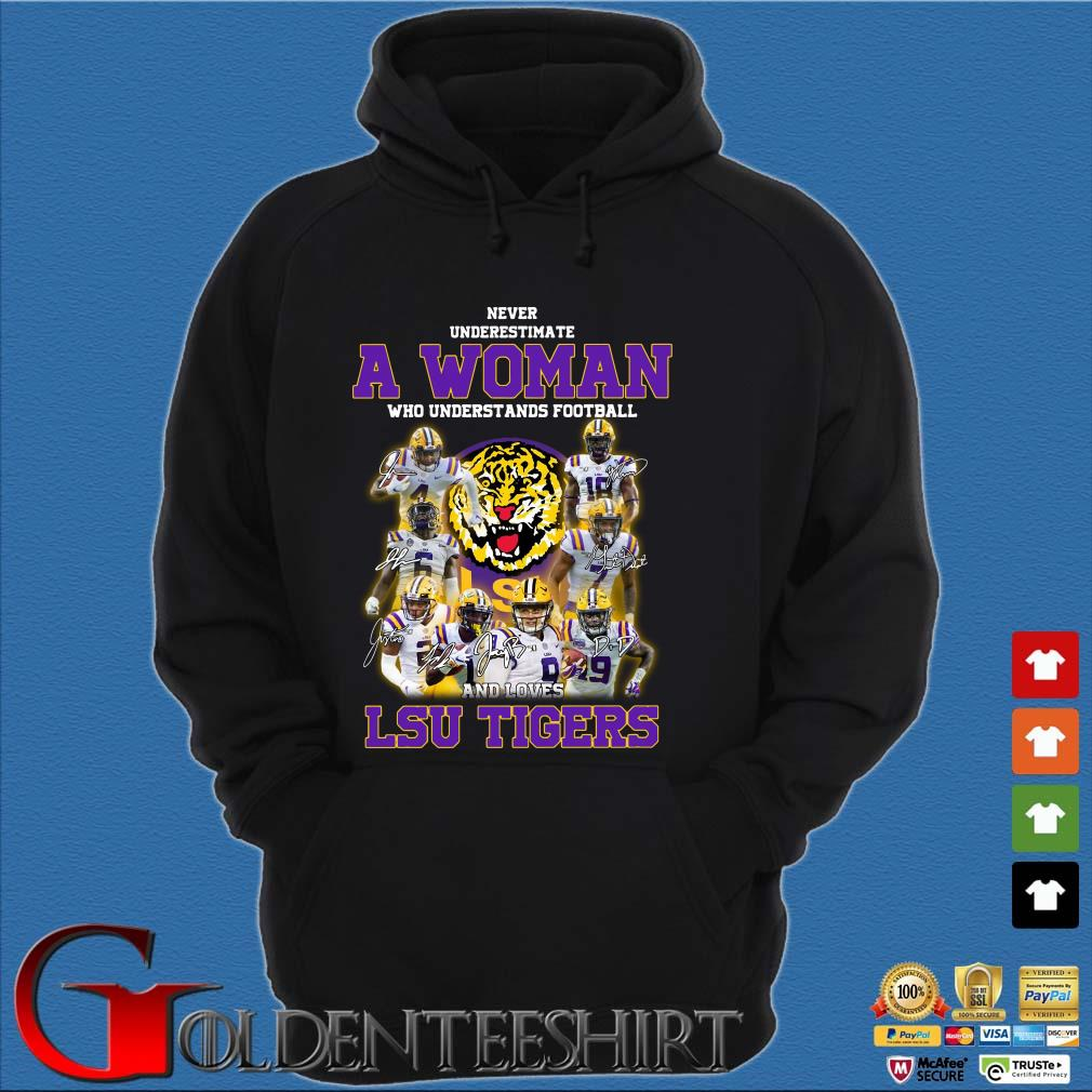 Never Underestimate a woman who understands football LSU Tigers Hoodie