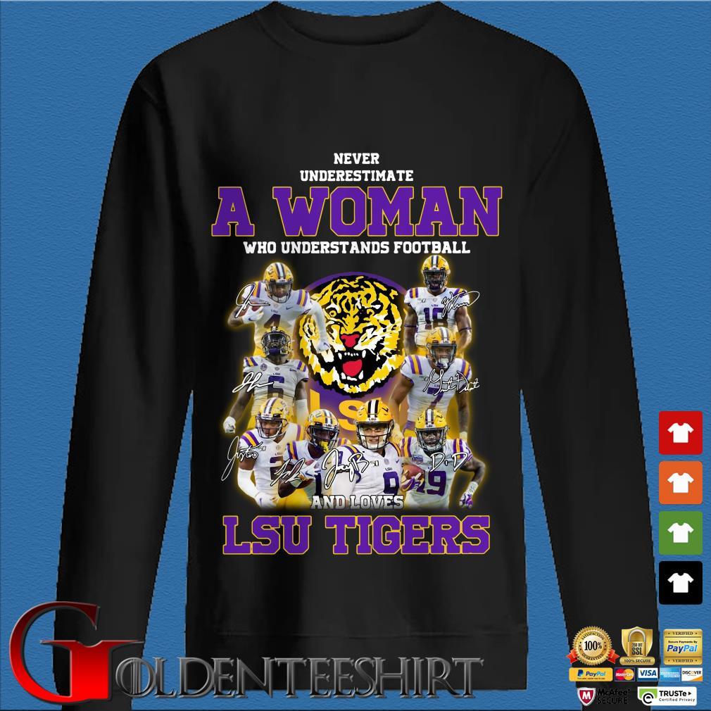 Never Underestimate a woman who understands football LSU Tigers Sweater