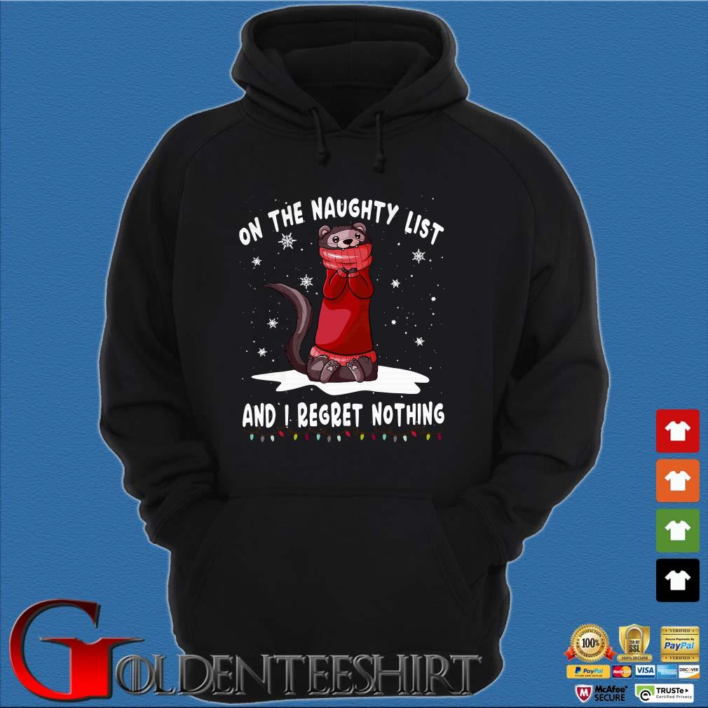Racoon on the naughty list and I regret nothing Shirt